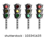 traffic lights or stop lights ...   Shutterstock . vector #103341635