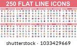 simple set of vector flat line... | Shutterstock .eps vector #1033429669
