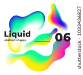 liquid vector colorful shapes.... | Shutterstock .eps vector #1033436827
