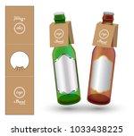 paper bottle neck hang tag die... | Shutterstock .eps vector #1033438225