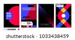 set of four abstract... | Shutterstock .eps vector #1033438459