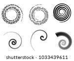 abstract vector spiral elements ... | Shutterstock .eps vector #1033439611