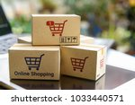 online shopping and ecommerce... | Shutterstock . vector #1033440571
