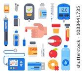 diabetes vector medical care to ... | Shutterstock .eps vector #1033441735