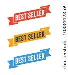 best seller ribbons   Shutterstock .eps vector #1033442359