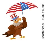 funny eagle in in the patriotic ...   Shutterstock .eps vector #1033443601