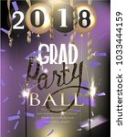 graduation party banner with... | Shutterstock .eps vector #1033444159