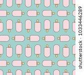 ice cream seamless pattern.... | Shutterstock .eps vector #1033446289