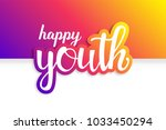 youth day. 12 august. happy... | Shutterstock .eps vector #1033450294