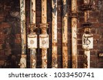 old rusty industry pipes  part...   Shutterstock . vector #1033450741
