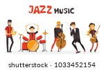 vector illustration of jazz... | Shutterstock .eps vector #1033452154