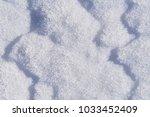 snow texture after snowstorm | Shutterstock . vector #1033452409