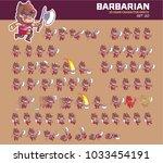 barbarian cartoon character... | Shutterstock .eps vector #1033454191