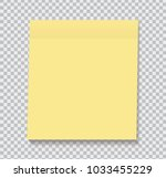 yellow sticky note isolated on... | Shutterstock .eps vector #1033455229