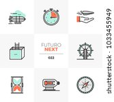 modern flat icons set of... | Shutterstock .eps vector #1033455949