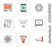 semi flat icons set of digital... | Shutterstock .eps vector #1033455985