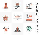 modern flat icons set of... | Shutterstock .eps vector #1033455994