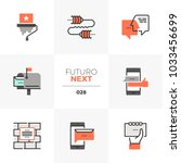 semi flat icons set of buzz... | Shutterstock .eps vector #1033456699