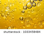 golden yellow bubble oil | Shutterstock . vector #1033458484