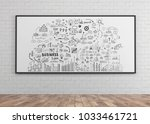 hand drawn business plan sketch ... | Shutterstock . vector #1033461721