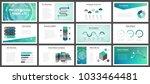 business presentation templates.... | Shutterstock .eps vector #1033464481