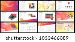 business presentation templates.... | Shutterstock .eps vector #1033466089
