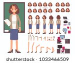 teacher woman character... | Shutterstock . vector #1033466509