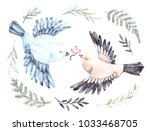 watercolor illustrations. two...   Shutterstock . vector #1033468705