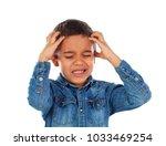 Latin Kid With Headache...
