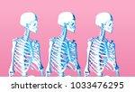 pastel low poly skeleton... | Shutterstock .eps vector #1033476295