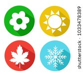 vector set of seasons icons.... | Shutterstock .eps vector #1033478389