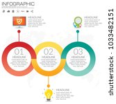 3 parts infographic design... | Shutterstock .eps vector #1033482151