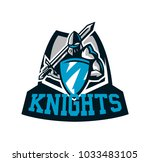 colorful logo  knight s emblem... | Shutterstock .eps vector #1033483105