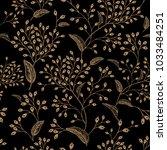 floral vintage seamless pattern.... | Shutterstock .eps vector #1033484251