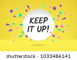 banner keep it up. poster ... | Shutterstock .eps vector #1033486141