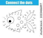 connect the dots children... | Shutterstock .eps vector #1033486897