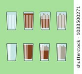 glass of cocoa with milk.... | Shutterstock .eps vector #1033500271
