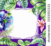 watercolor  postcard  square ... | Shutterstock . vector #1033502131