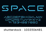 geometric technology font... | Shutterstock .eps vector #1033506481