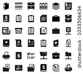 flat vector icon set   case... | Shutterstock .eps vector #1033506634