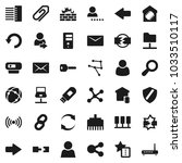 flat vector icon set  ... | Shutterstock .eps vector #1033510117