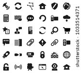 flat vector icon set   cart... | Shutterstock .eps vector #1033514371