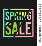 spring sale design in different ... | Shutterstock .eps vector #1033517515