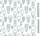 light bulbs seamless pattern... | Shutterstock .eps vector #1033519714