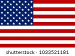american flag. vector image of... | Shutterstock .eps vector #1033521181