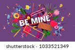 bright and colorful card for... | Shutterstock . vector #1033521349