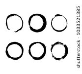 set of circle vector frame.... | Shutterstock .eps vector #1033521385