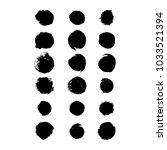 set of hand drawn circle grunge ...   Shutterstock .eps vector #1033521394