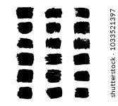 set of hand drawn rectangular... | Shutterstock .eps vector #1033521397