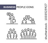 business people icons set... | Shutterstock .eps vector #1033525927